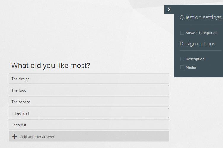 multiple questions Online Survey