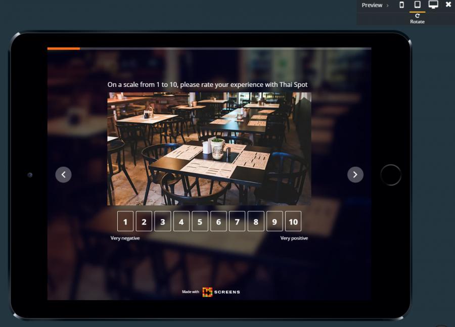 online survey tablet