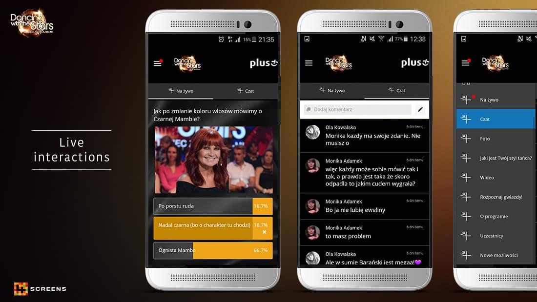 Second Screen App dancing