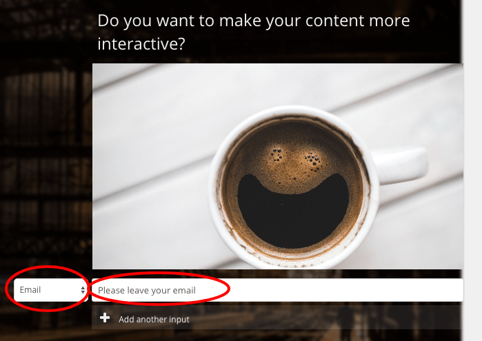 email box for interactive content