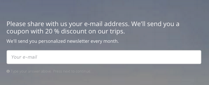 additional value for joining email list