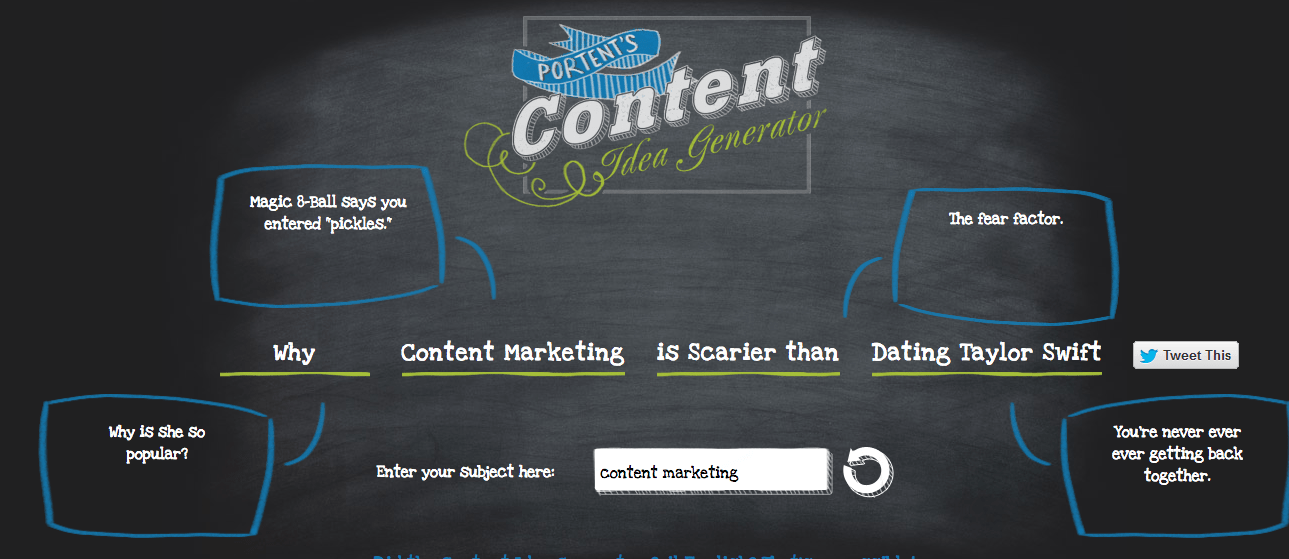 how to generate ideas for content marketig