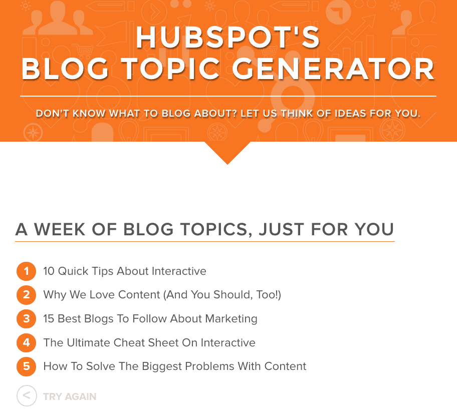 content marketing topic generator