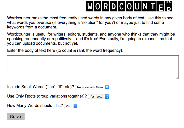 WordCounter using in content creation